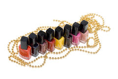 Colour varnish for nail Stock Image