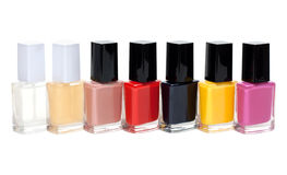 Colour varnish for nail exposed in row Stock Photos