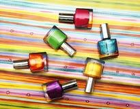 Colour vials of nail polish Royalty Free Stock Photo