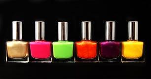 Colour vials of nail polish Royalty Free Stock Photos