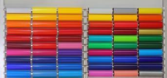 Vinyl Foil. Colour Vinyl Pvc Plastic Foils Stock Photography