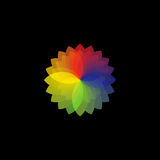 Colour wheel on black Stock Images