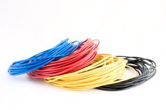 Colour wires  Stock Photos