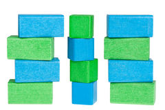 Colour wooden cubes Stock Photo