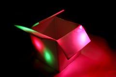 Colourbox -在黑暗的颜色盒 免版税库存照片