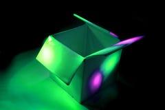 Colourbox - Farbenkasten in der Dunkelheit Stockfotografie