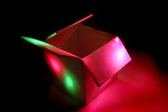 Colourbox - w zmroku koloru pudełko Zdjęcia Royalty Free
