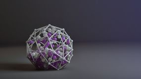 Coloured 3d abstraction with spheres. In a plastic construction Stock Photography