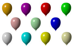 Coloured 3D baloons Stock Image