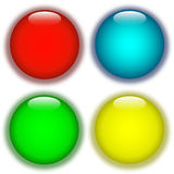 Coloured aqua buttons Royalty Free Stock Photography
