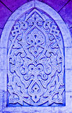 Coloured arabian ornamental carvings royalty free stock images