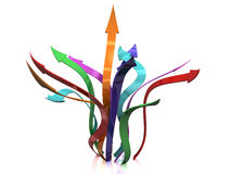 Coloured arrows on �2 Royalty Free Stock Photo