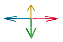 Coloured Arrows Royalty Free Stock Images
