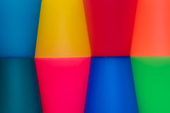 Coloured background Abstract. Coloured background made from plastic cups royalty free stock photography