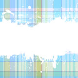 Coloured background with blots. A text blank with checked texture and grungy blots Stock Photos