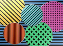 Coloured background / design. / pattern / shapes Royalty Free Stock Photos