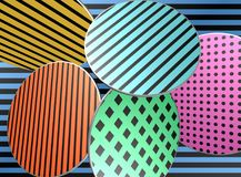 Coloured background / design. / pattern / shapes Royalty Free Stock Photography