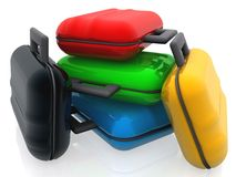 Coloured bags Royalty Free Stock Photo