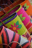 Coloured bags Stock Images