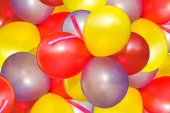 Coloured balloon. The decorate festive coloured balloon stock images