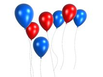Coloured balloon. 3d rendered many coloured balloon Stock Photo