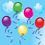 Coloured balloons Stock Photo