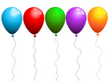 Coloured balloons Royalty Free Stock Photo