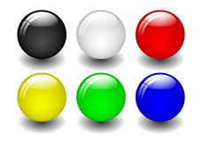 Coloured Balls Royalty Free Stock Photography