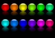 Coloured Balls Royalty Free Stock Photos