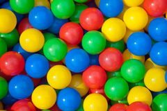 Coloured Balls. Red, Blue, Green and Yellow assorted coloured balls stock photography