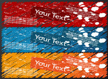 Coloured banners Royalty Free Stock Image
