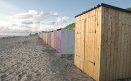 Coloured beach cabins  Royalty Free Stock Photo