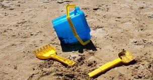 Coloured beach toys. Coloured beach boys on the Senigallia`s beach in Italy stock images
