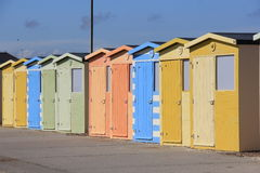 Coloured Beachhouses Stock Image