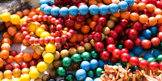 Coloured beads Royalty Free Stock Images