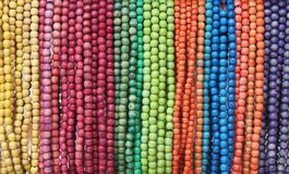 Coloured beads Stock Images