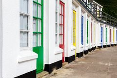 Coloured beach huts Royalty Free Stock Photography