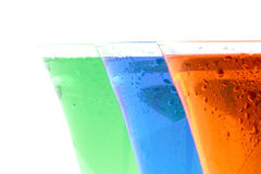 Coloured beverages Stock Image