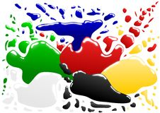 Coloured blots. Vector - various coloured blots with reflection Royalty Free Stock Images