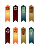 Coloured bookmarks 2 Royalty Free Stock Image