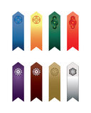Coloured bookmarks 2 Royalty Free Stock Photography