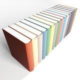 Coloured books. On a white. 3d render illustration royalty free illustration