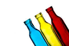 Coloured Bottles Royalty Free Stock Photos