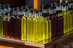Coloured bottles Stock Photo