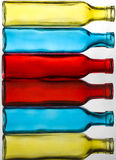 Coloured Bottles Stack Stock Photo