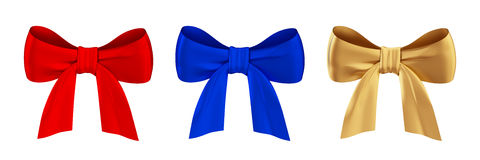 Coloured bows set. Royalty Free Stock Photography