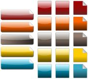 Coloured box. Set of coloured box, created with inkscape royalty free illustration