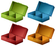 Coloured boxes. Lllustration of the coloured boxes on a white background Stock Photo