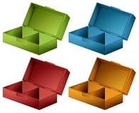 Coloured boxes Stock Photo