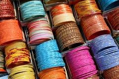 Coloured bracelets. India Royalty Free Stock Photo